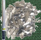 Пневмохлопушка «Пневмохлопушка в пластиковой тубе Серебряное конфетти 30 см»
