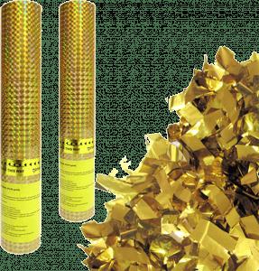 Пневмохлопушка «Пневмохлопушка в пластиковой тубе Золотое конфетти 30 см»